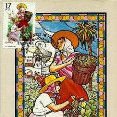 Sellos: ESPAÑA 1984- EDI 2747 [FIESTA DE LA VENDIMIA] (TARJETA MÁXIMA). Lote 62448924