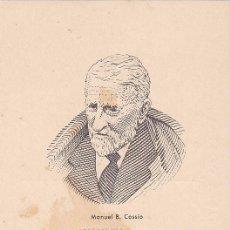 Sellos: BENEFICENCIA HUERFANOS DE CORREOS PEDAGOGOS 1937 MANUEL B COSSIO (EDIFIL 12) EN BONITA Y RARA TM PD. Lote 34971909
