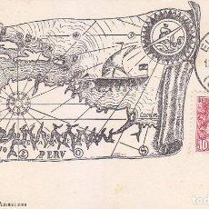Sellos: EXPEDICION AL AMAZONAS 1935 (EDIFIL 694) EN BONITA Y RARA TM PRIMER DIA MATASELLOS EL FERROL CORUÑA.. Lote 68398093