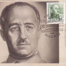 Sellos: GENERAL FRANCO 1948 (EDIFIL 1021) EN BONITA Y RARA TARJETA MAXIMA PRIMER DIA AUTOGRAFIADA. . Lote 68826421