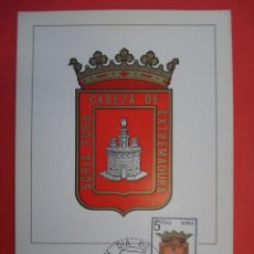 Sellos: TARJETA MAXIMA, SERIE ESCUDOS - SORIA - MATASELLOS PRIMER DIA - MADRID 6.SEP.65.. R-4307. Lote 71910023