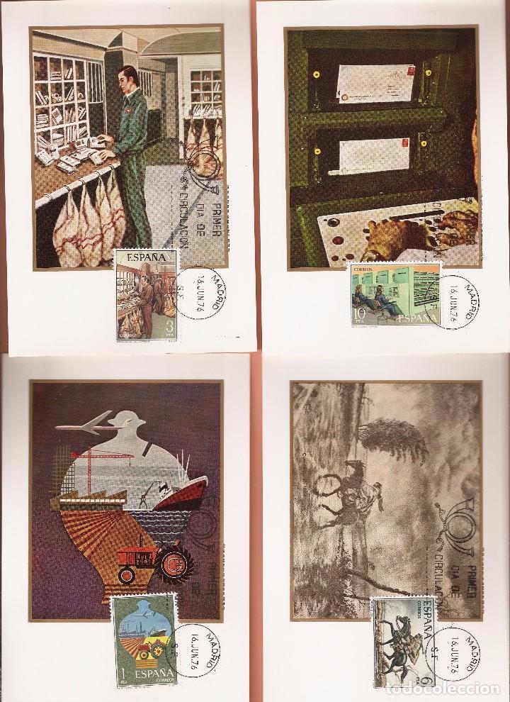 TARJETA MAXIMA EDIFIL 2329/ A 2332 SERVICIO DE CORREOS 1976 LAS DE LA FOTO VER TODAS MIS TARJETAS (Sellos - España - Tarjetas Máximas )