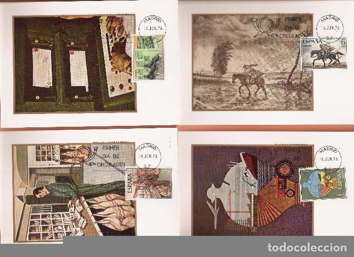 Sellos: TARJETA MAXIMA EDIFIL 2329/ A 2332 SERVICIO DE CORREOS 1976 LAS DE LA FOTO VER TODAS MIS TARJETAS - Foto 2 - 72356023