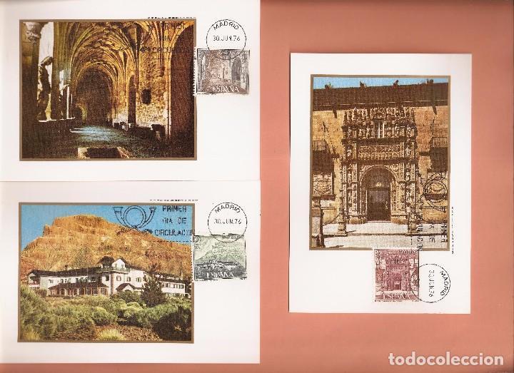 TARJETA MAXIMA EDIFIL 2334/ A 2339 PARADORES NACIONALES 1976 LAS DE LA FOTO VER TODAS MIS TARJETAS (Sellos - España - Tarjetas Máximas )