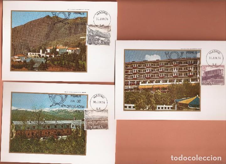 Sellos: TARJETA MAXIMA EDIFIL 2334/ A 2339 PARADORES NACIONALES 1976 LAS DE LA FOTO VER TODAS MIS TARJETAS - Foto 2 - 72356291