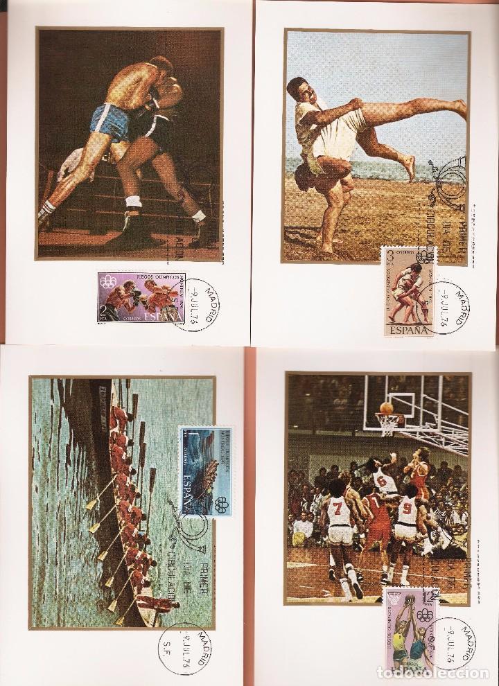 TARJETA MAXIMA EDIFIL 2340/ A 2343 JUEGOS OLIMPICOS DE MONTREAL 1976 LAS DE LA FOTO (Sellos - España - Tarjetas Máximas )