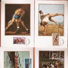 Sellos: TARJETA MAXIMA EDIFIL 2340/ A 2343 JUEGOS OLIMPICOS DE MONTREAL 1976 LAS DE LA FOTO . Lote 72356827