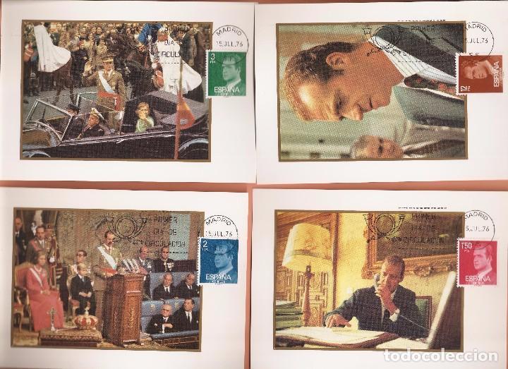 TARJETA MAXIMA EDIFIL 2344/ A 2349 JUAN CARLOS I 1976 LAS DE LA FOTO VER TODAS MIS TARJETAS (Sellos - España - Tarjetas Máximas )