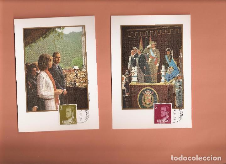 Sellos: TARJETA MAXIMA EDIFIL 2344/ A 2349 JUAN CARLOS I 1976 LAS DE LA FOTO VER TODAS MIS TARJETAS - Foto 2 - 72357215