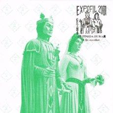 Selos: 094. TARJETA MAXIMA EXPOSICION PINEDA DE MAR (BARCELONA) 2001. GEGANTS, GIGANTES. Lote 72747755