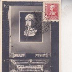 Sellos: ISABEL LA CATOLICA 1938-1939 (EDIFIL 857) EN BONITA Y RARA TARJETA MAXIMA.. Lote 74195479