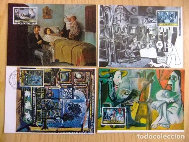 ESPAÑA 1978 PABLO RUIZ PICASSO / MUSEO / TARJETA MAXIMA / BARCELONA EDIFIL Nº 2481 / 2488 (Sellos - España - Tarjetas Máximas )