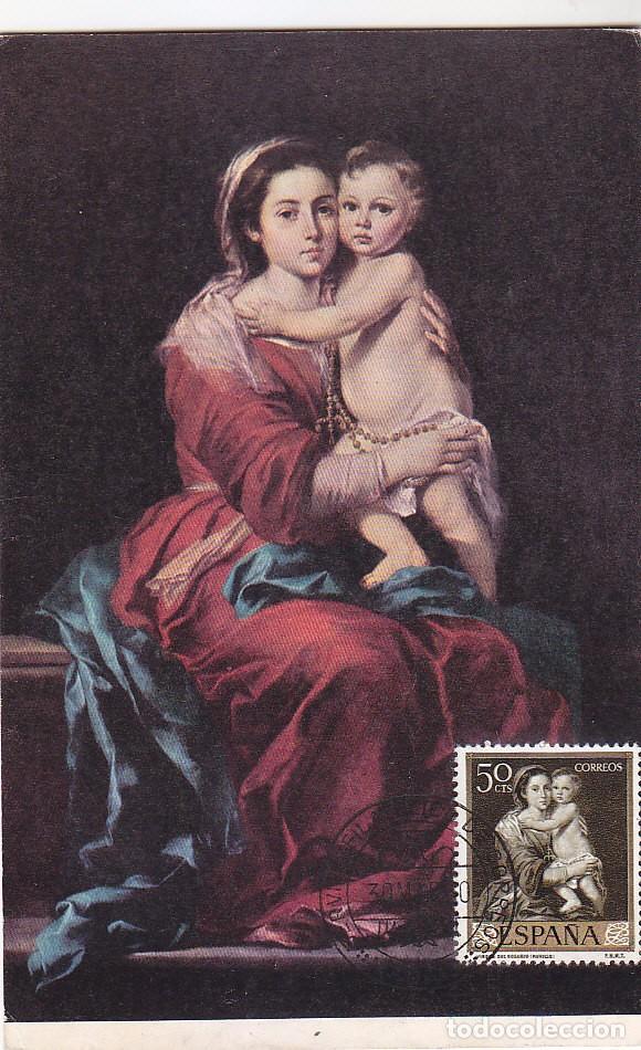 Pintura la virgen del rosario bartolome esteban comprar tarjetas pintura la virgen del rosario bartolome esteban murillo 1960 edifil 1272 tm servicio filatelico thecheapjerseys Gallery