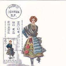Sellos: TRAJE DE CUENCA TRAJES TIPICOS ESPAÑOLES 1968 (EDIFIL 1842) EN TARJETA MAXIMA PRIMER DIA DE MF. WXZ. Lote 42511124