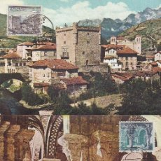 Sellos: TURISMO SERIE TURISTICA 1964 (EDIFIL 1541/50) EN DIEZ TARJETAS MAXIMAS PRIMER DIA MATASELLOS LOCALES. Lote 88955212
