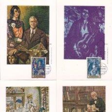 Sellos: PINTURA SOLANA DIA DEL SELLO 1972 (EDIFIL 2077/84) EN OCHO TARJETAS MAXIMAS PRIMER DIA. RARAS ASI.. Lote 92262385