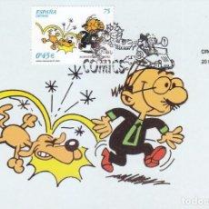Selos: COMICS 2001 ROMPETECHOS PERSONAJE DE FRANCISCO IBAÑEZ (EDIFIL 3840) EN TARJETA MAXIMA PRIMER DIA.. Lote 93740555