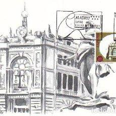 Sellos: EDIFIL 3124, BANCO DE ESPAÑA, (MADRID CAPITAL EUROPEA CULTURA), TARJETA MAXIMA PRIMER DIA 29-7-1991. Lote 96313847