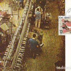 Sellos: EDIFIL 2565, ESPAÑA EXPORTA CALZADO, TARJETA MAXIMA DE PRIMER DIA DE 15-3-1980. Lote 96836467