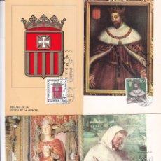 Sellos: LXXV 75 ANIVERSARIO CORONACION NUESTRA SEÑORA DE LA MERCED 1963 (EDIFIL 1521/25) EN CINCO TM PD.. Lote 97352019
