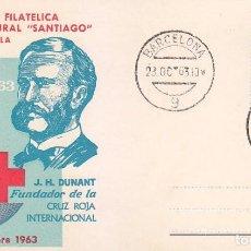 Sellos: J H DUNANT CENTENARIO DE LA CRUZ ROJA INTERNACIONAL 1963 (EDIFIL 1534) EN TM PD MATASELLOS BARCELONA. Lote 97353603