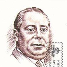 Sellos: EDIFIL 2762/3, PABLO LUNA Y EL NIÑO JUDIO (MAESTROS DE LA ZARZUELA), TARJETA MAXIMA DE 20-7-1984. Lote 98547231