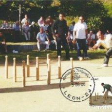 Sellos: 2008 TARJETA MÁXIMA DEPORTES TRADICIONALES BOLO LEONÉS. Lote 100365451