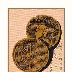Selos: EDIFIL 2358, BIMILENARIO DE LUGO, MONEDAS ROMANS, TARJETA MAXIMA DE PRIMER DIA DE 22-9-1976 . Lote 100727211