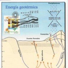 Sellos: 2009 TARJETA MAXIMA ENERGÍAS RENOVABLES GEOTÉRMICA. Lote 101200371