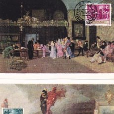 Sellos: PINTURA MARIANO FORTUNY 1968 (EDIFIL 1854/63) EN DIEZ TM PRIMER DIA MATASELLOS REUS. RARAS ASI.. Lote 101224819