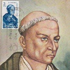 Sellos: EDIFIL 1694, ANDRÉS DE URDANETA, 4º CENTº EVANGELIZACIÓN FILIPINAS TARJETA MAXIMA DE 3-12-65 . Lote 101288523