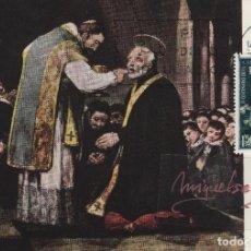 Selos: 1837 AÑO 1967 - II CENTENARIO JOSE DE CALASANZ - EN TM /TARJETA MÁXIMA PRIMER DÍA . Lote 102580011