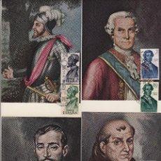 Sellos: 1530/3 AÑO 1963 -FORJADORES DE AMÉRICA - EN TM /TARJETA MÁXIMA PRIMER DÍA. Lote 102591311