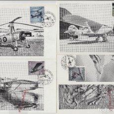 Sellos: 1401/4 AÑO 1961 - L ANIVERSARIO AVIACIÓN ESPAÑOLA - EN TM /TARJETA MÁXIMA PRIMER DÍA. Lote 102600687