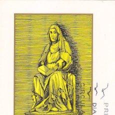 Sellos: RELIGION AÑO SANTO COMPOSTELANO 1971 SANTA BRIGIDA (EDIFIL 2009) EN TARJETA MAXIMA PRIMER DIA.. Lote 104136035