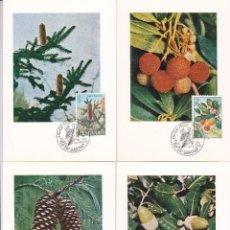 Sellos: FLORA 1972 (EDIFIL 2085/89) EN CINCO TARJETAS MAXIMAS PRIMER DIA MATASELLOS SAN SEBASTIAN. RARAS ASI. Lote 104674187