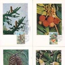 Sellos: FLORA 1972 (EDIFIL 2085/89) EN CINCO TARJETAS MAXIMAS PRIMER DIA.. Lote 104674271