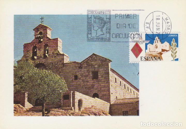 EDIFIL 2265, SANTUARIO DE SANTA MARIA DE LA CABEZA, TARJETA MAXIMA DE PRIMER DIA 18-6-1975 (Sellos - España - Tarjetas Máximas )