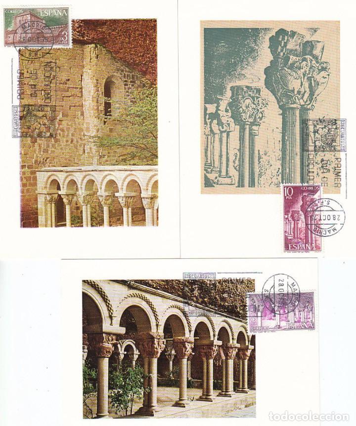 EDIFIL 2297/9, MONASTERIO DE SAN JUAN DE LA PEÑA (HUESCA) TARJETA MAXIMA DE PRIMER DIA DE 28-10-1975 (Sellos - España - Otros - Tarjetas Máximas )
