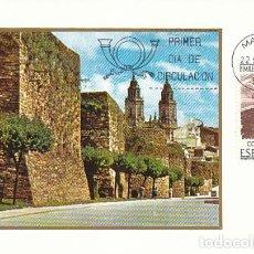 Selos: EDIFIL 2357, BIMILENARIO DE LUGO, MURALLAS ROMANAS, TARJETA MAXIMA DE PRIMER DIA DE 22-9-1976 . Lote 111569378
