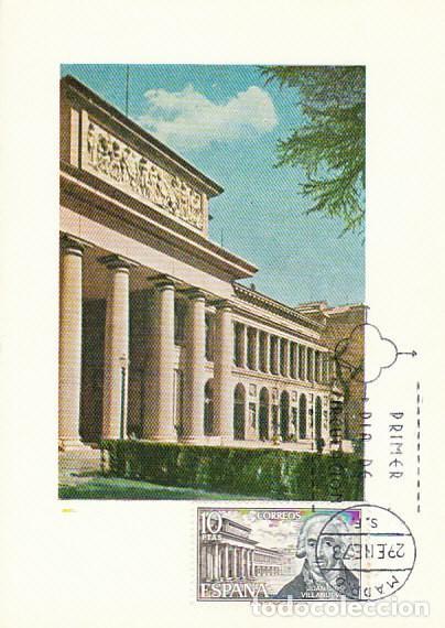 EDIFIL 2118, MUSEO DEL PRADO DE JUAN DE VILLANUEVA, TARJETA MAXIMA DE PRIMER DIA DE 20-1-1973 (Sellos - España - Tarjetas Máximas )