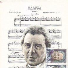 Sellos: AMADEO VIVES ESCENA DE MARUXA MAESTROS DE LA ZARZUELA 1982 (EDIFIL 2653/54) EN TM PRIMER DIA. . Lote 109528963