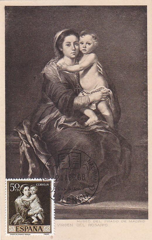 La virgen del rosario pintura bartolome esteban comprar tarjetas la virgen del rosario pintura bartolome esteban murillo 1960 edifil 1272 tm publicidad altavistaventures Choice Image