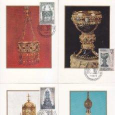 Sellos: ESPAÑA 75 EXPOSICION MUNDIAL DE FILATELIA 1975 (EDIFIL 2244/51 2252/53) EN OCHO TM PRIMER DIA. RARAS. Lote 111500635