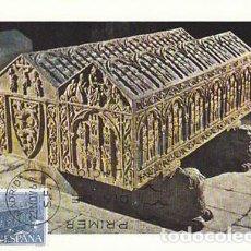Sellos: EDIFIL 1947, MONASTERIO DE LAS HUELGAS (BURGOS) SEPULCRO, TARJETA MAXIMA DE PRIMER DIA DE 22-11-1969. Lote 113491039
