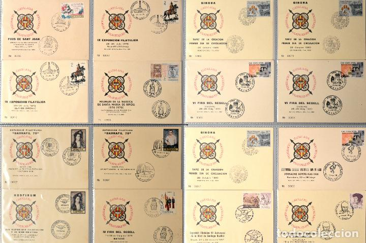 LOTE 50 TARJETA MATASELLOS ESPECIAL Y PRIMER DIA FEDERACIO CATALANA SOCIETATS FILATELIQUES CATALUÑA (Sellos - España - Tarjetas Máximas )