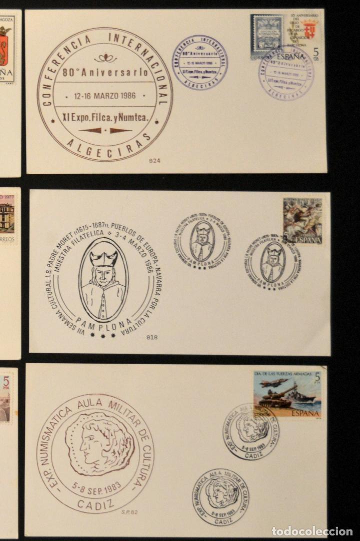 Sellos: LOTE 12 TARJETA MAXIMA CONMEMORATIVAS EXPOSICION FILATELICA Y NUMISMATICA TODAS DISTINTAS - Foto 4 - 113753151
