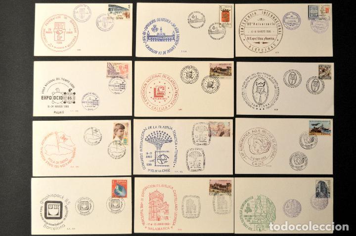 Sellos: LOTE 12 TARJETA MAXIMA CONMEMORATIVAS EXPOSICION FILATELICA Y NUMISMATICA TODAS DISTINTAS - Foto 6 - 113753151