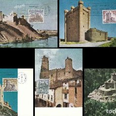 Sellos: EDIFIL Nº 1880/4, CASTILLOS 1968, PRIMER DIA DE 29-7-1968 SERIE COMPLETA EN TARJETAS POSTALES . Lote 114807111