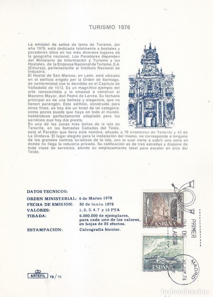 SAN MARCOS Y CAÑADAS SERIE TURISTICA PARADORES NACIONALES 1976 (EDIFIL 2334-2335) TM PD ARTEFIL. MPM (Sellos - España - Tarjetas Máximas )